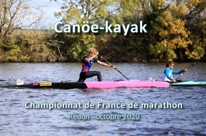 course de canoe kayak sur un plan d'eau